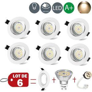 SPOTS - LIGNE DE SPOTS WOWATT Lot de 6 Spots encastrables LED - Pivotant
