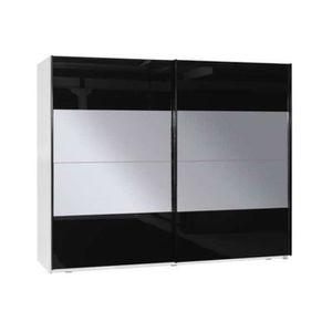 ARMOIRE DE CHAMBRE Armoire design GOSSA - blanc-noir - 200