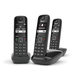 Téléphone fixe Gigaset AS690 Trio - Téléphone fixe sans fil - 3 c