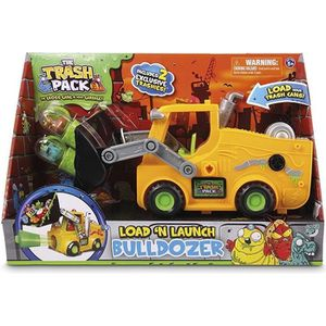 MALLETTE MULTI-JEUX  The Trash Pack – Bulldozer Charge & Tire – Véhicu