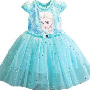 ROBE Nouveau Design reine  Elsa enfants filles vêtement