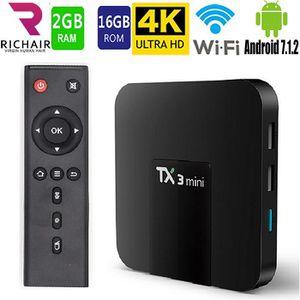 BOX MULTIMEDIA TX3mini Android Box Smart TV BOX 2GB+16GB Quad Cor