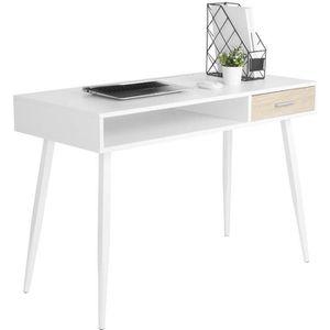 BUREAU  WOLTU Bureau d'ordinateur avec 1 tiroirs et 1 Comp