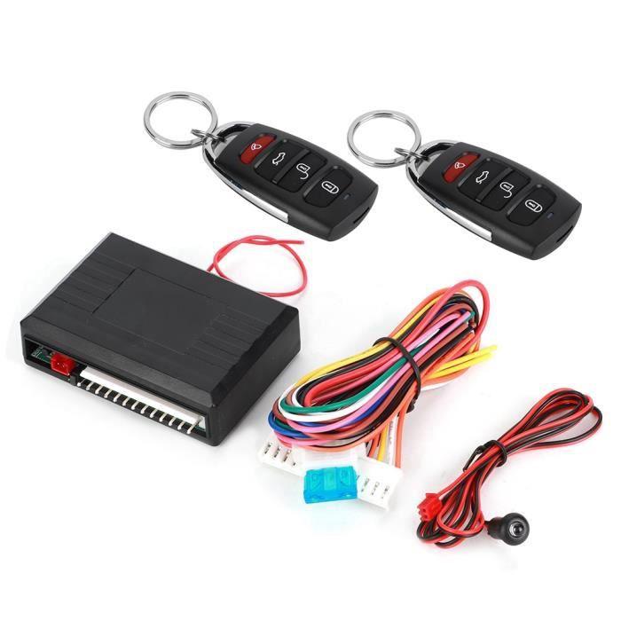 Alarme de voiture universelle noire Systerm 4 boutons Kit de verrouillage centralisé sans clé système d'entrée sans clé