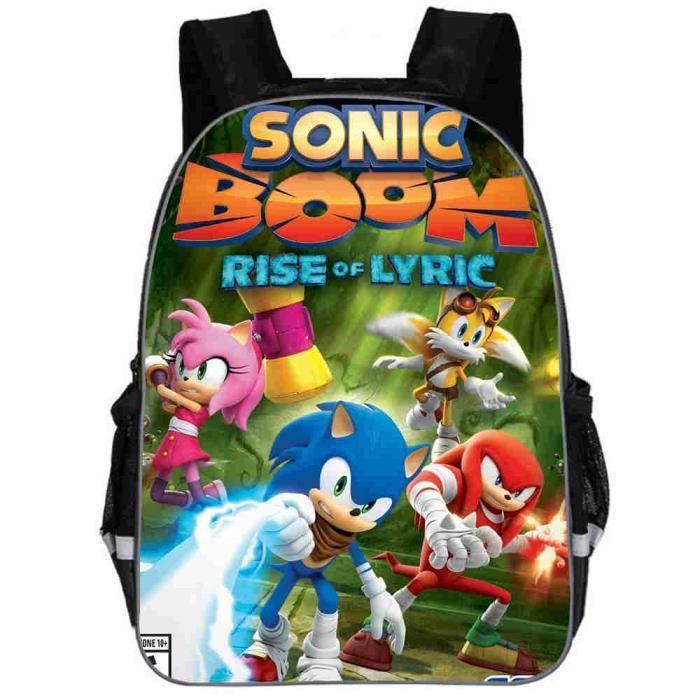 Sac à dos Enfants Sonic 16- nior Haut qualité cartable d'écolie réversible Sac à main Nouvelle mode 1