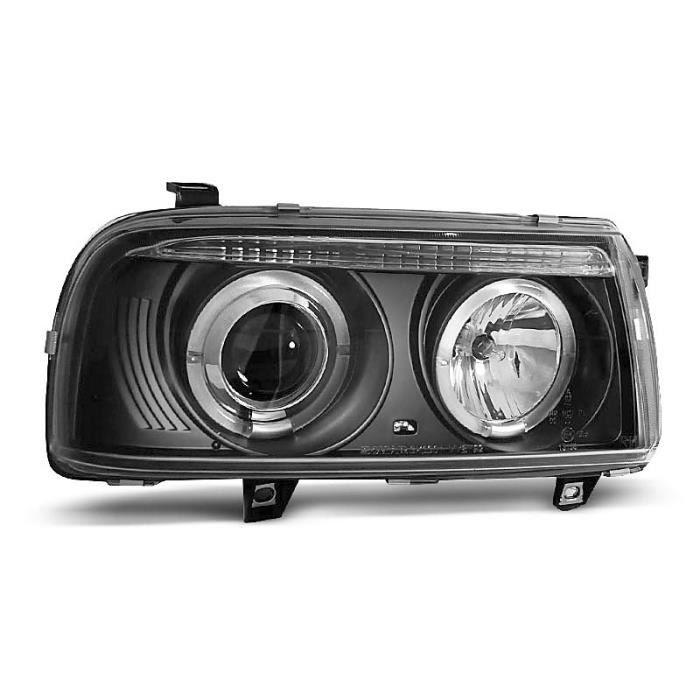 Paire de feux phares VW Vento 92-98 angel eyes noir (W88)