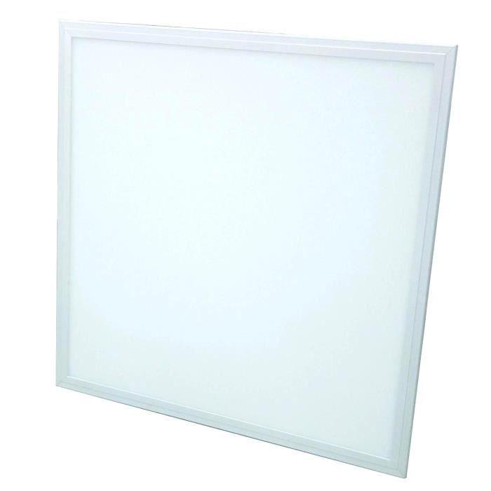 Dalle LED Plafonnier extra plat 36W 600x600mm Blanc Neutre complete avec alimentation Lifud