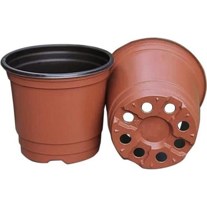 50 Pots de Plantes en Plastique Pots de semences de 15 cm Pots de semis Parfaits pour Le Jardinier