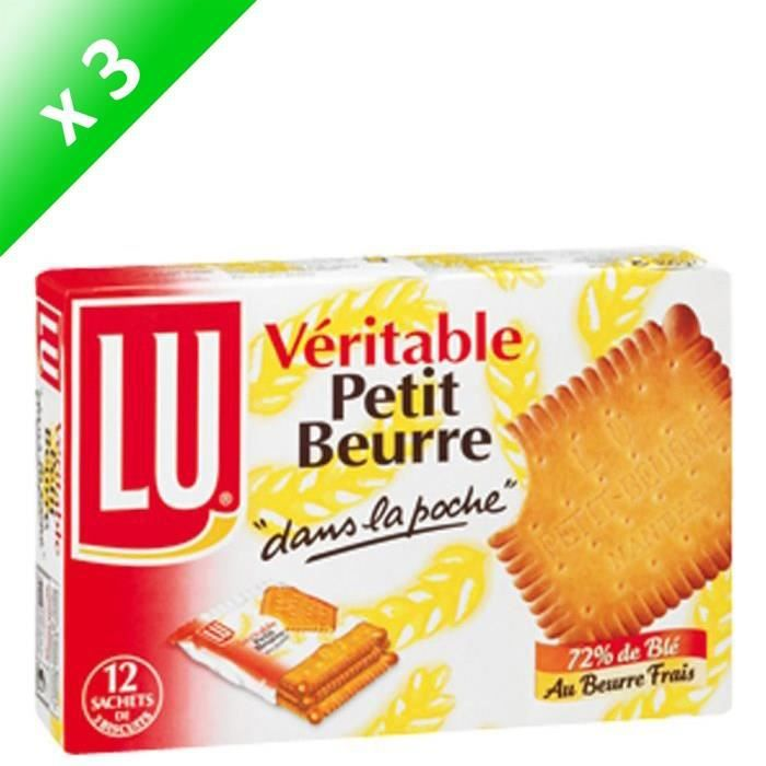 [LOT DE 3] Petit Beurre poche 300 g Le Véritable Petit Beurre