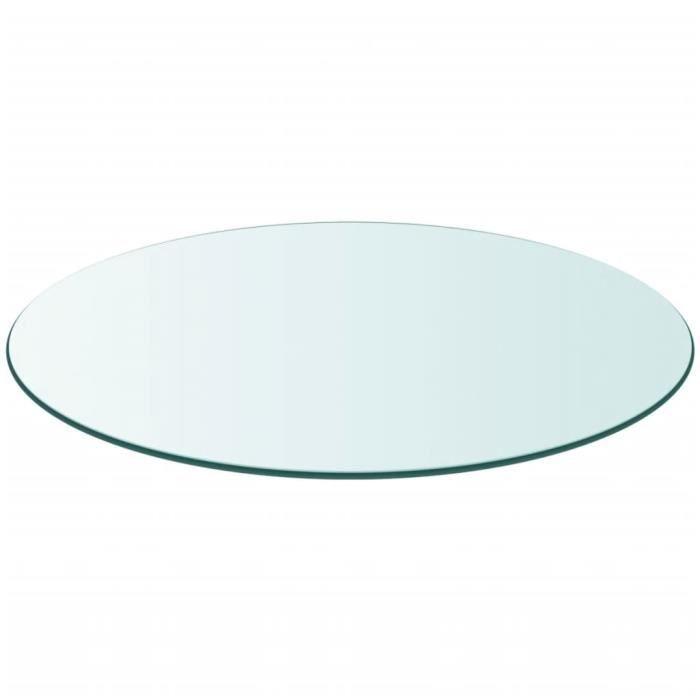PLATEAU DE TABLE VENDU SEUL - QID Dessus de table ronde en verre trempé 300 mm