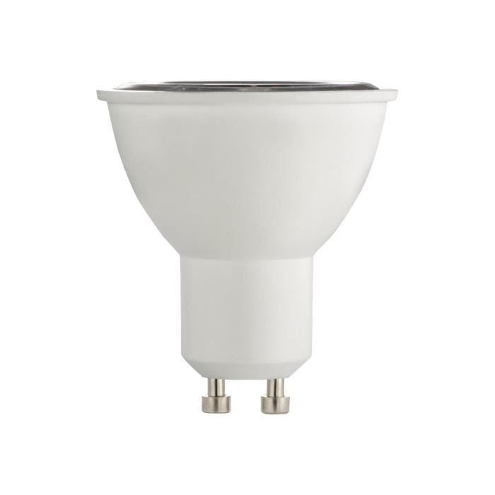Xavax Ampoule LED avec réflecteur forme : PAR16 GU10 6.5 W (équivalent 55 W) classe A+ lumière blanche chaude 2700 K