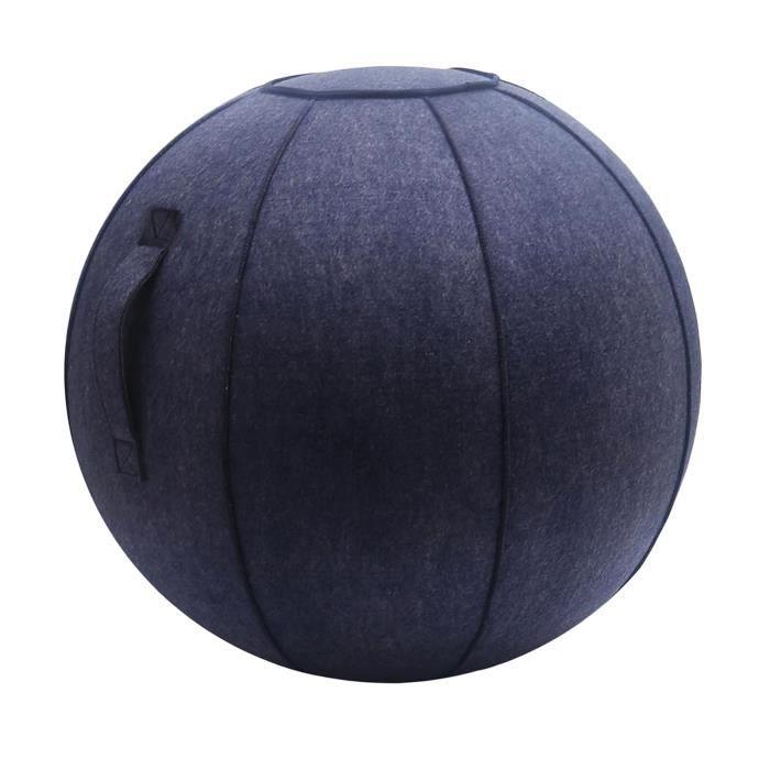 65cm Senti Assis Ball Chair Protection, durable Auto-Debout Ballon D'exercice Équilibre Pilates Yoga Boules Couverture avec Bleu