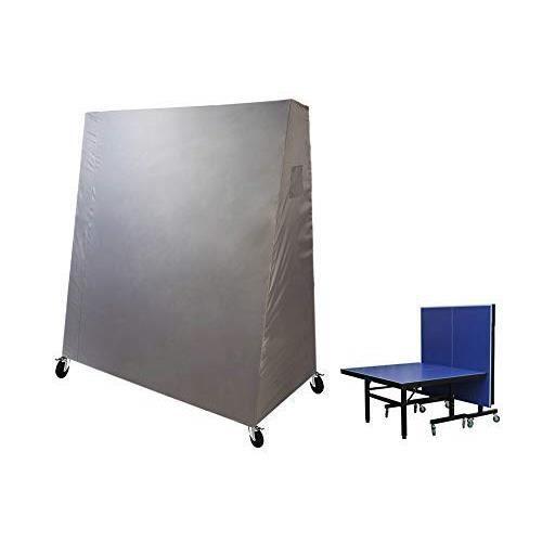 Laxllent Housse de Table Tennis,165 x 85 x 185 cm,Imperméable Housse Meuble Couverture de Ping Pong Table en 210D Oxford,Gris