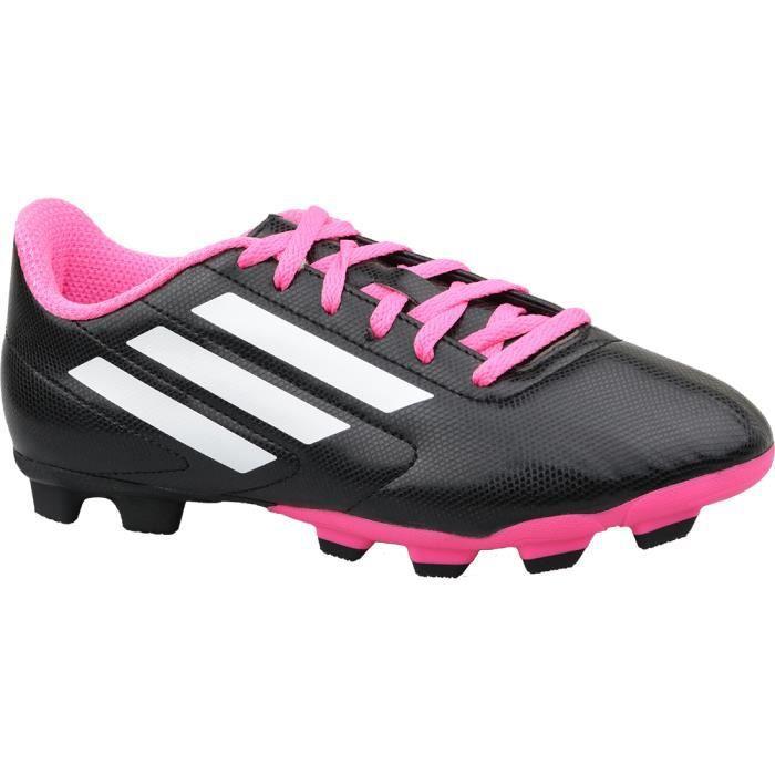 Adidas Conquisto FG J B25594 chaussures de foot à crampons pour enfant Noir