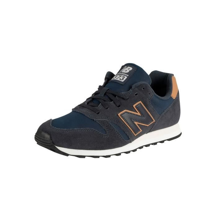 New Balance Homme 373 Baskets en daim, Bleu
