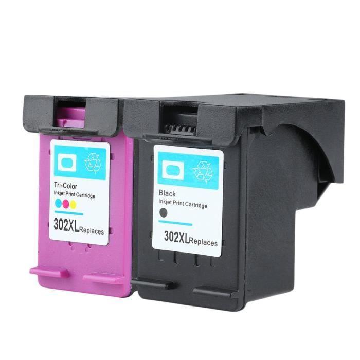 Pack 2 cartouches compatibles HP 302 XL - ENVY 4520 - 1 noire et 1 couleurs