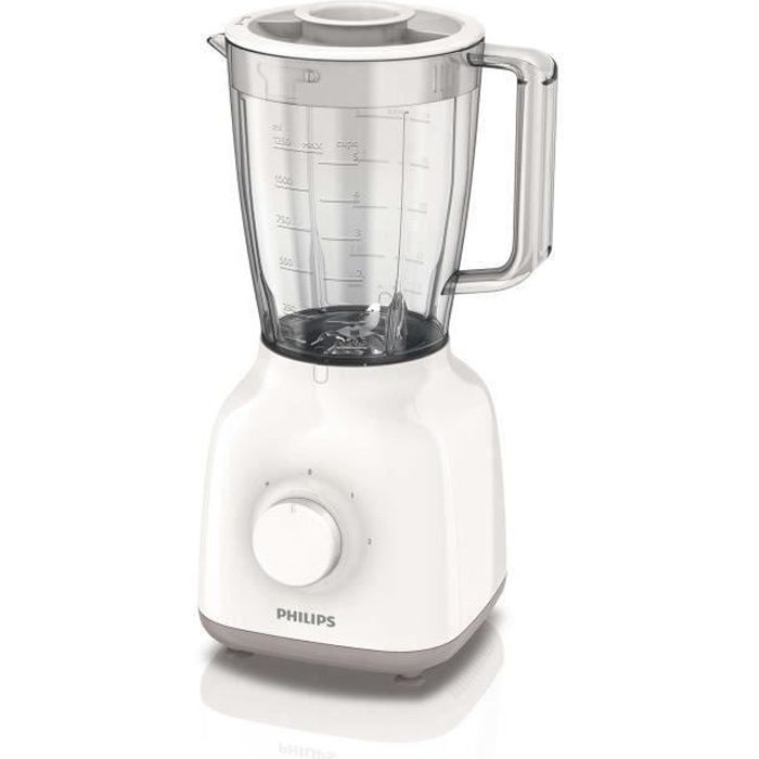 PHILIPS HR2100/00 Blender Daily 400 W- Bol 1,5L - 2 vitesses - Blanc