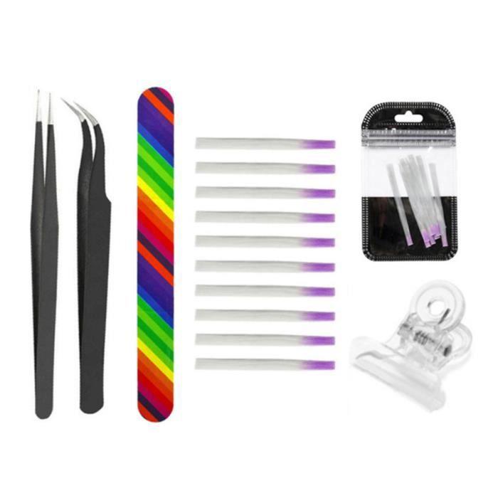14pcs outils d'extension des ongles en fibre de verre professionnel en de polonais barre pince à épiler VERNIS A ONGLES