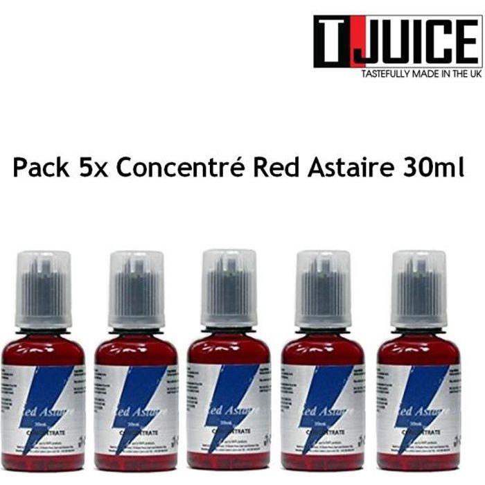 Pack 5x Concentré Red Astaire 30ml - T JUICE