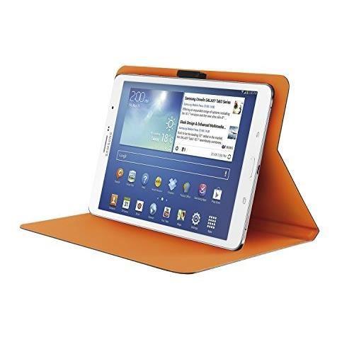 TRUST Aeroo Étui Folio Univ pour Tablette 7/8'' - Gris et orange