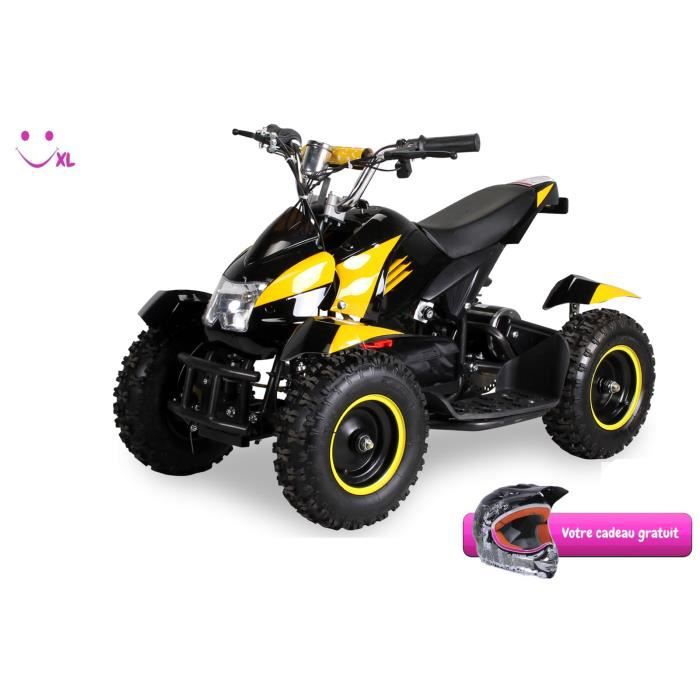 mini quad lectrique atv cobra 800 watt pocket quad noir jaune cadeau achat vente quad. Black Bedroom Furniture Sets. Home Design Ideas