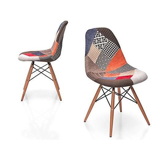 chaise multicolor - Chaise Scandinave Multicolore