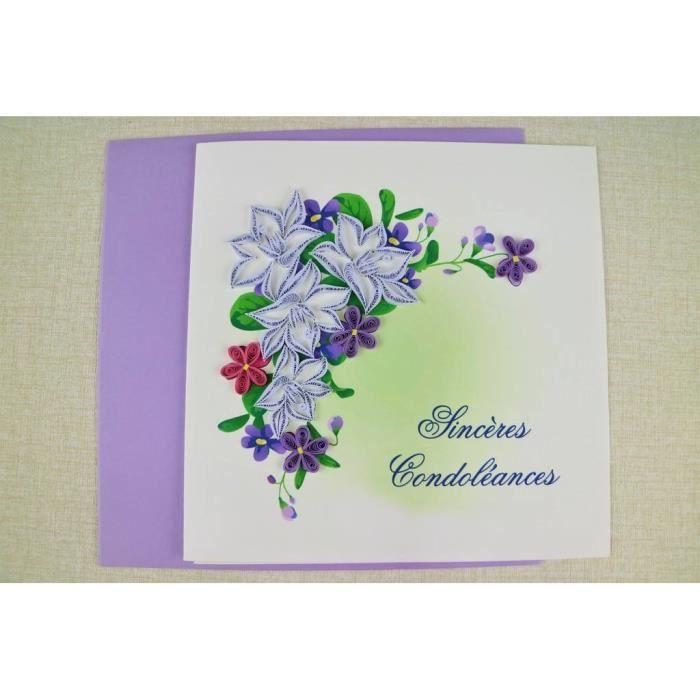 Carte Condoleance Achat Vente Pas Cher