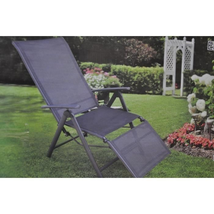 transat chaise de jardin pliable 145 cm achat vente chaise longue transat chaise de jardin. Black Bedroom Furniture Sets. Home Design Ideas