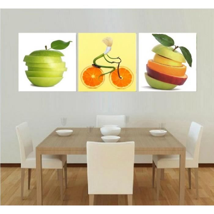 3pcs set tableau peinture l 39 huile fruits cr atives peint. Black Bedroom Furniture Sets. Home Design Ideas