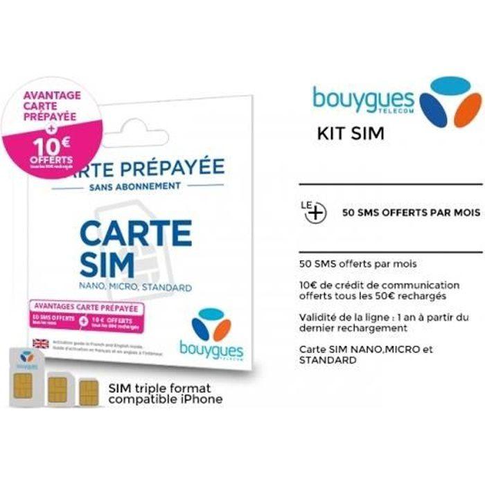 Carte Sim Bouygues Achat Vente Pas Cher