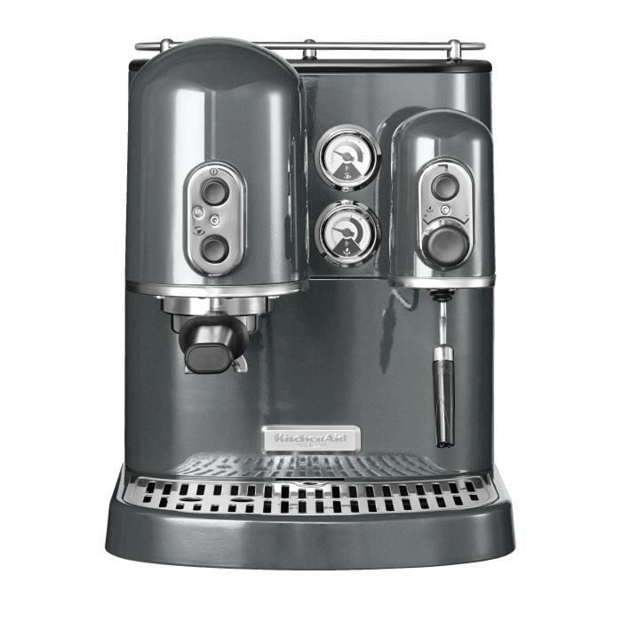 machine expresso gris kitchenaid 5kes2102ems achat vente cafeti re cdiscount. Black Bedroom Furniture Sets. Home Design Ideas