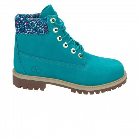 Boots 6 In Premium Wp Teal Blue Jr - Timberland