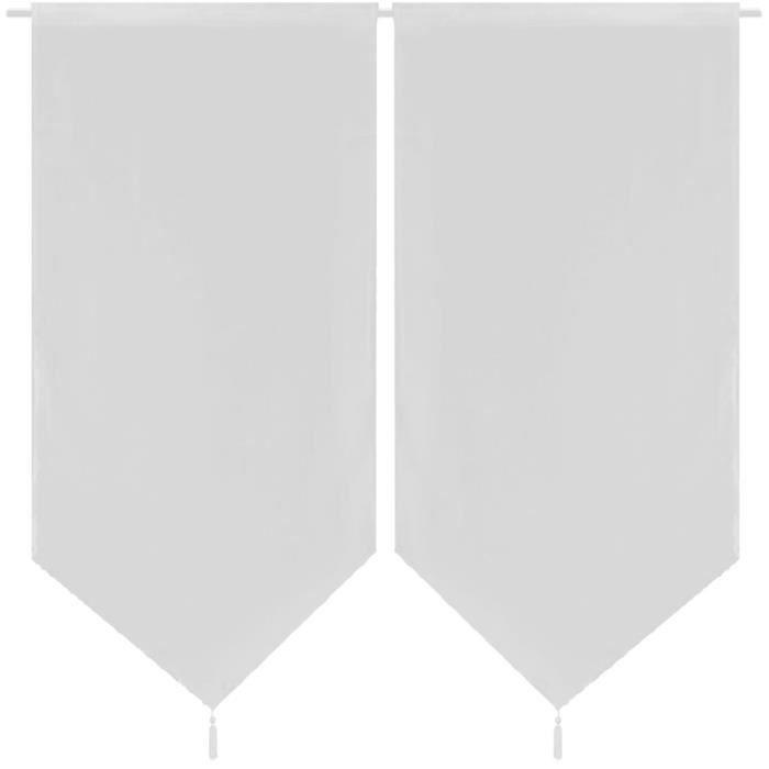 RIDEAU 2 Rideaux de cuisine en lin pastiche 60 x 160 cm B