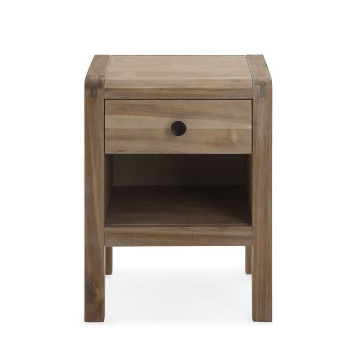 Gaia table de chevet en acacia 1 tiroir achat vente for Table de chevet solde