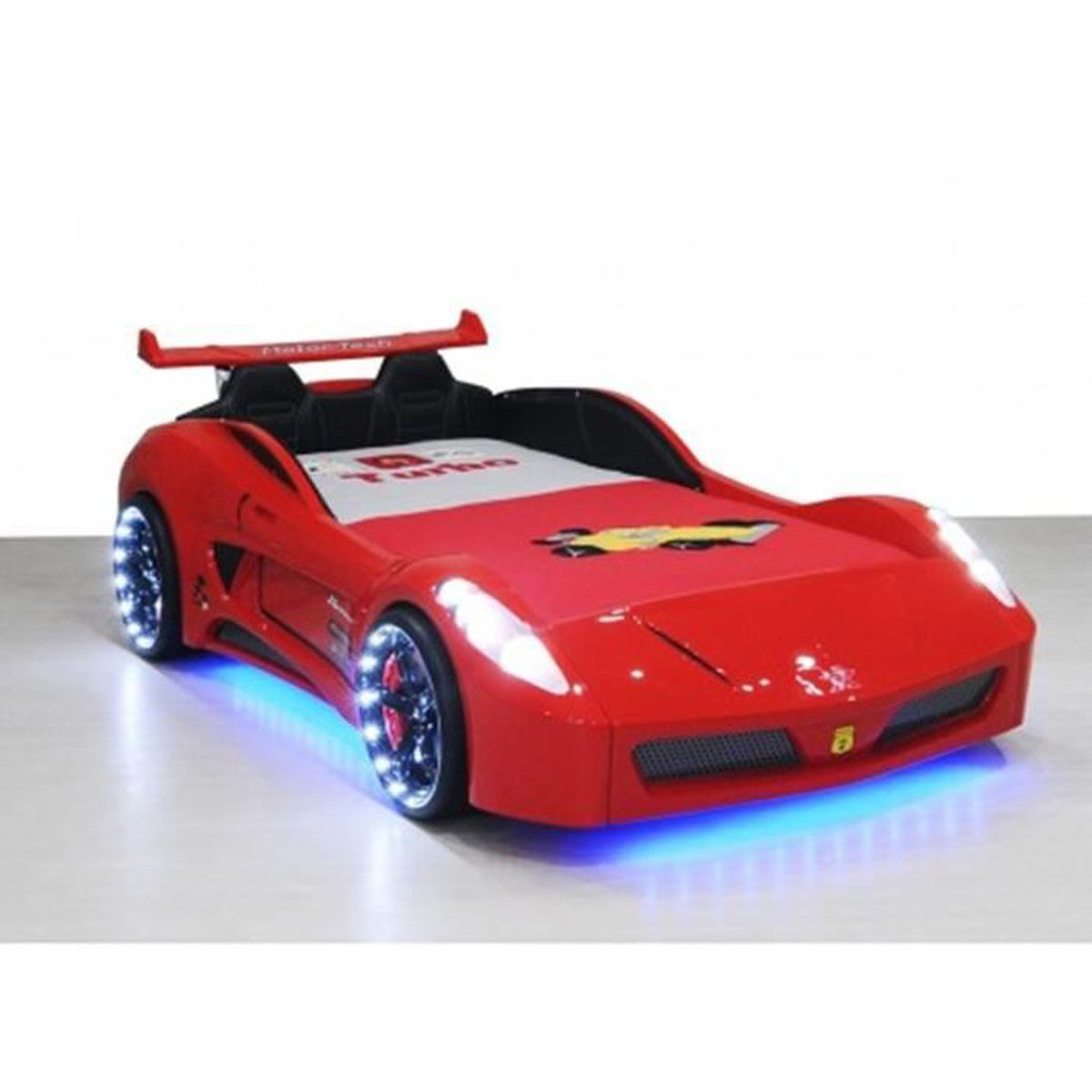 lit voiture enfant v7 avec led rouge ferrari achat vente chambre compl te lit voiture. Black Bedroom Furniture Sets. Home Design Ideas