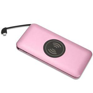 CHARGEUR TÉLÉPHONE Ultrathin Portable 10000mAh Qi sans fil d'alimenta