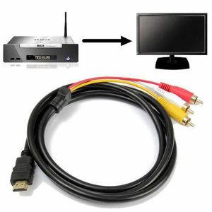 CÂBLE TV - VIDÉO - SON 1.5M Câble Cordon Emetteur HDMI Vers 3 RCA Mâle Au
