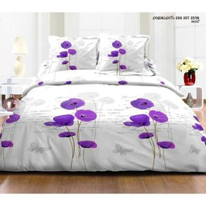 parures de lit coquelicot achat vente parures de lit coquelicot pas cher cdiscount. Black Bedroom Furniture Sets. Home Design Ideas