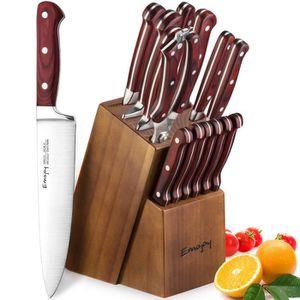 COUTEAU DE CUISINE  Bloc de Couteau Cuisine Professionnel, kit de Cout