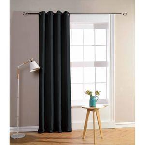 RIDEAU Rideaux occultant noir 140 x 260 cm - 2240