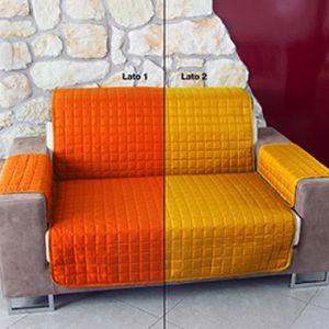 HOUSSE DE CANAPE Housse de canapé matelassé bicolore 2P - Orange -