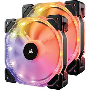 VENTILATION  CORSAIR Ventilateur HD140 RGB LED - Dual Fans + Té