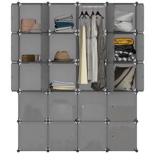 ARMOIRE DE CHAMBRE LANGRIA Armoire de chambre 20 Cubes Organisateur E