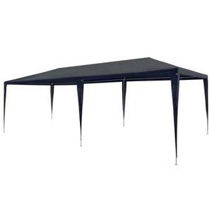 TONNELLE - BARNUM Tente de réception 3 x 6 m PE Bleu