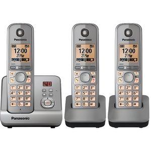 Téléphone fixe Téléphone avec Répondeur de 3 Pack KXTG6723GB P…