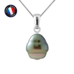 SAUTOIR ET COLLIER Pendentif - Perle de Culture de Tahiti Cerclée 9-1