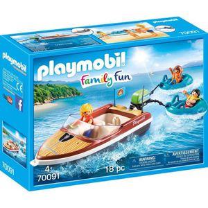 UNIVERS MINIATURE PLAYMOBIL 70091 - Family Fun Le Camping - Bateau a