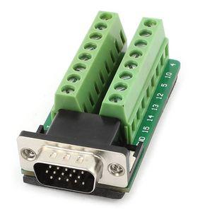 CARTE MÈRE D-SUB DB15 VGA male 3Row 15 Pin Module de signal d