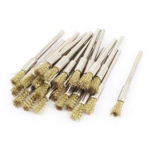 BROSSE ABRASIVE A MAIN 1-20,3cm Mandrin ton or fil Stylo polissage bross