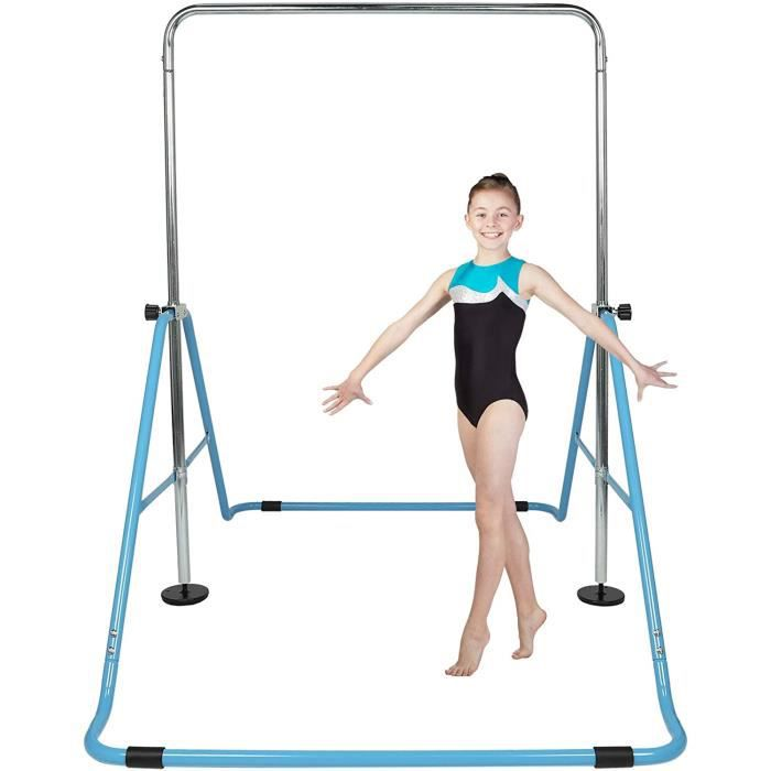 Barres d'Entraînement de Gymnastique pour Enfants, Barre de Traction pour Enfant, Gymnastique Barre Horizontale, Barre Fitness Bleu